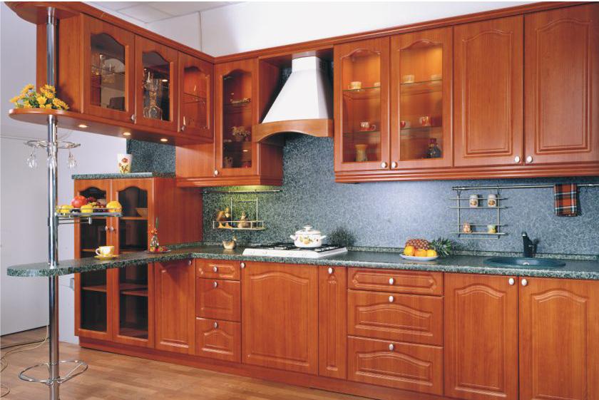 Замена фасадов кухни из массива