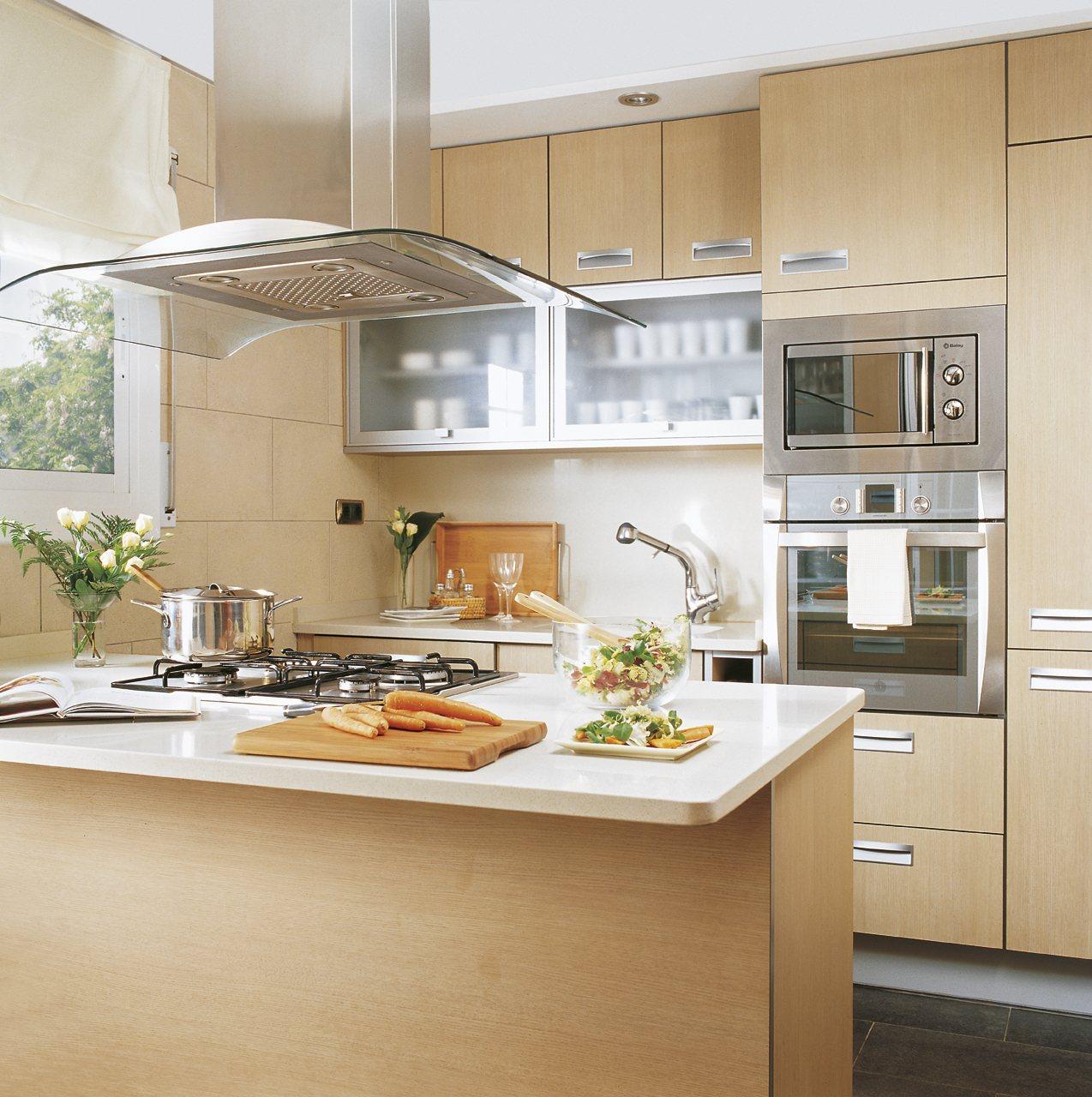 Дизайн маленькой кухни МДФ