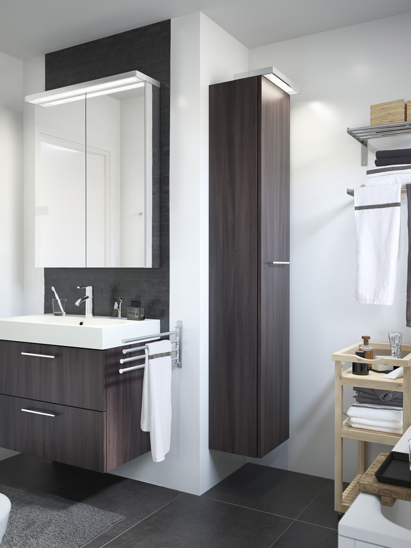 Идеи дизайна маленькой ванной с мебелью