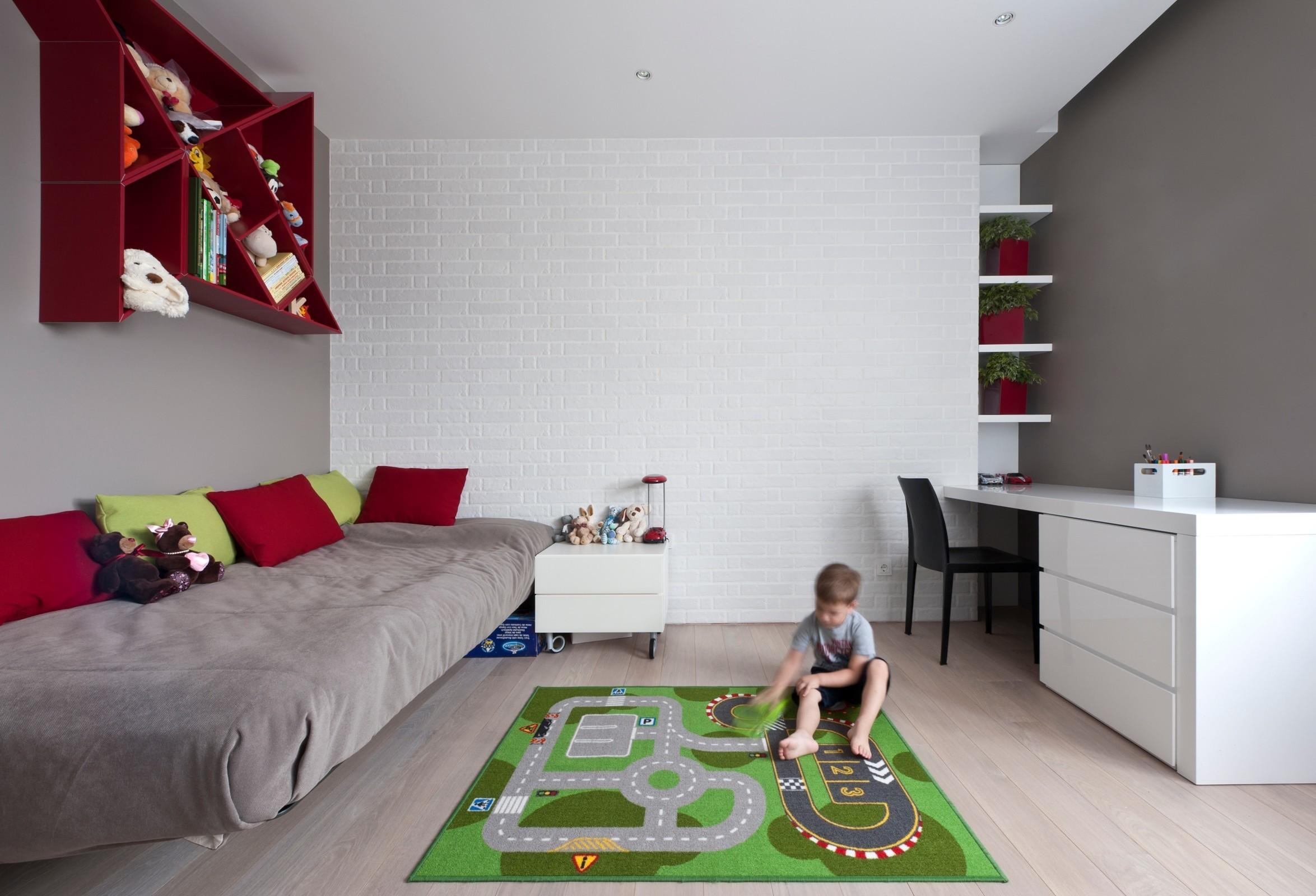 Детская в однокомнатной квартире с мебелью