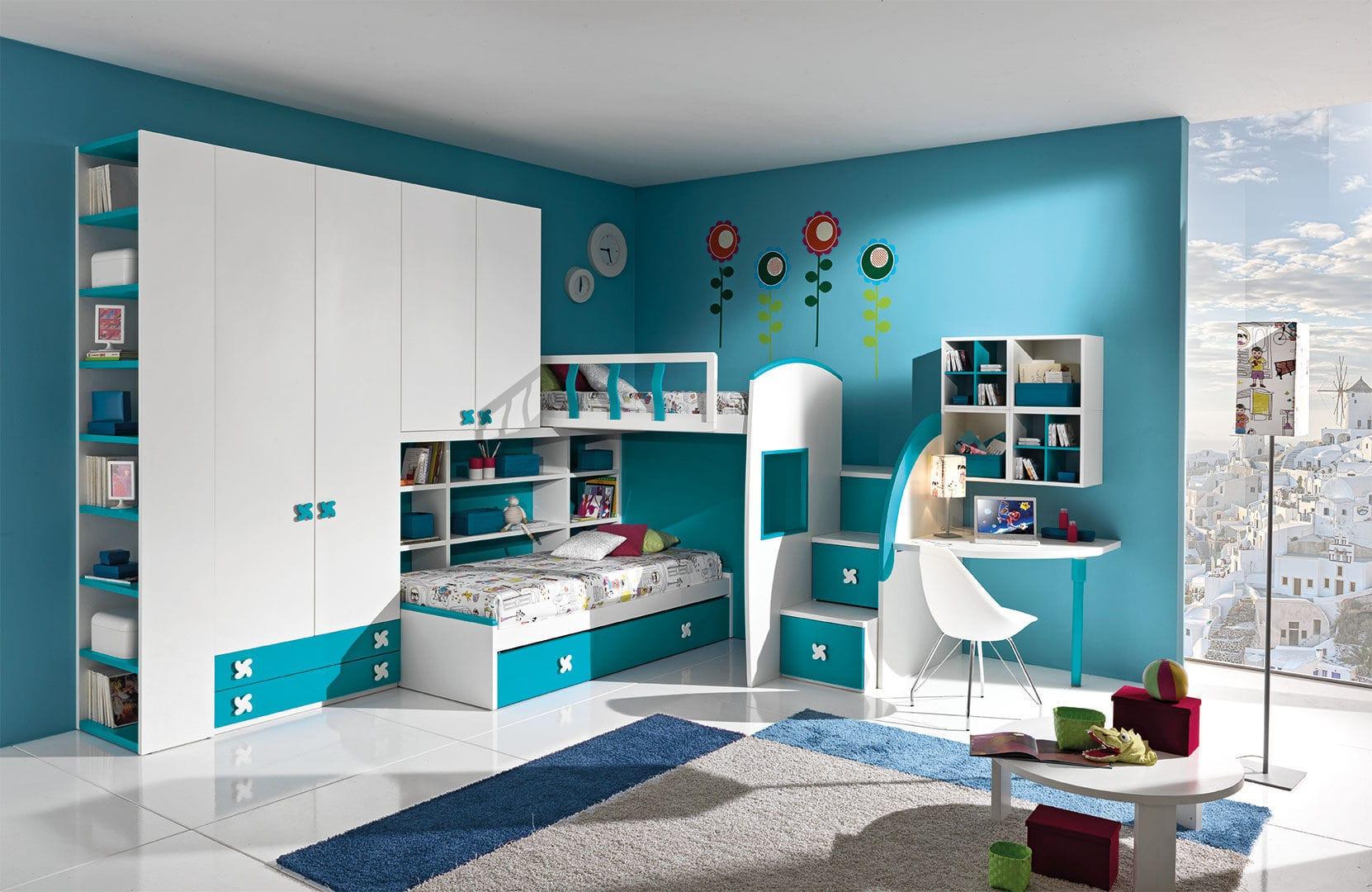 Детская комната для мальчика с мебелью