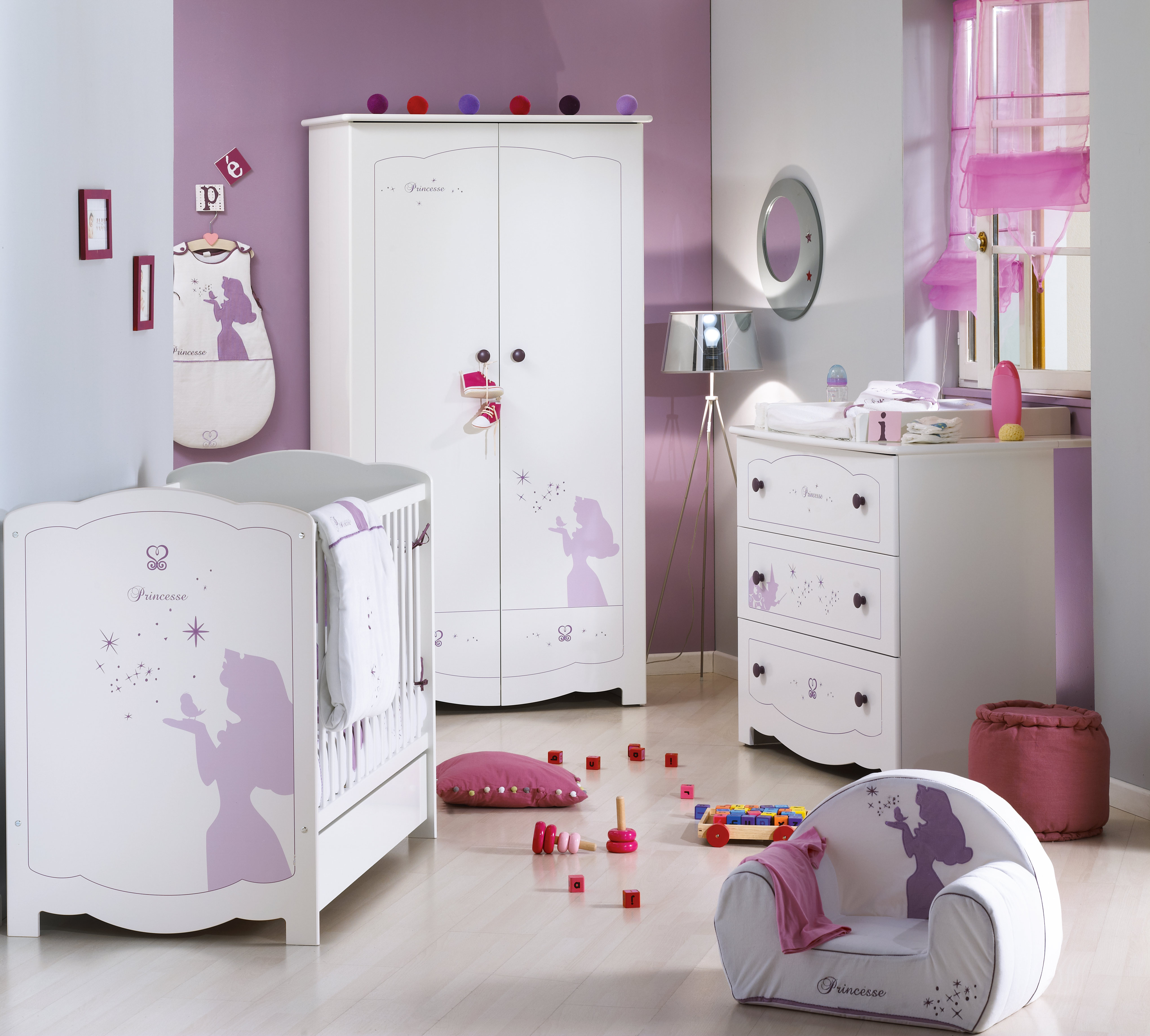 Детская комната в стиле прованс с мебелью