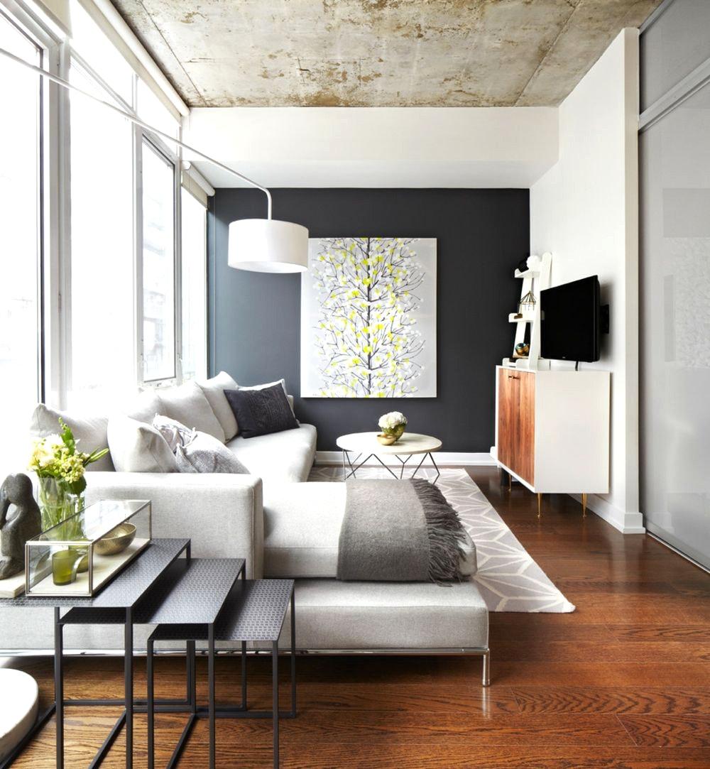 Интерьер квартиры студии в стиле модерн