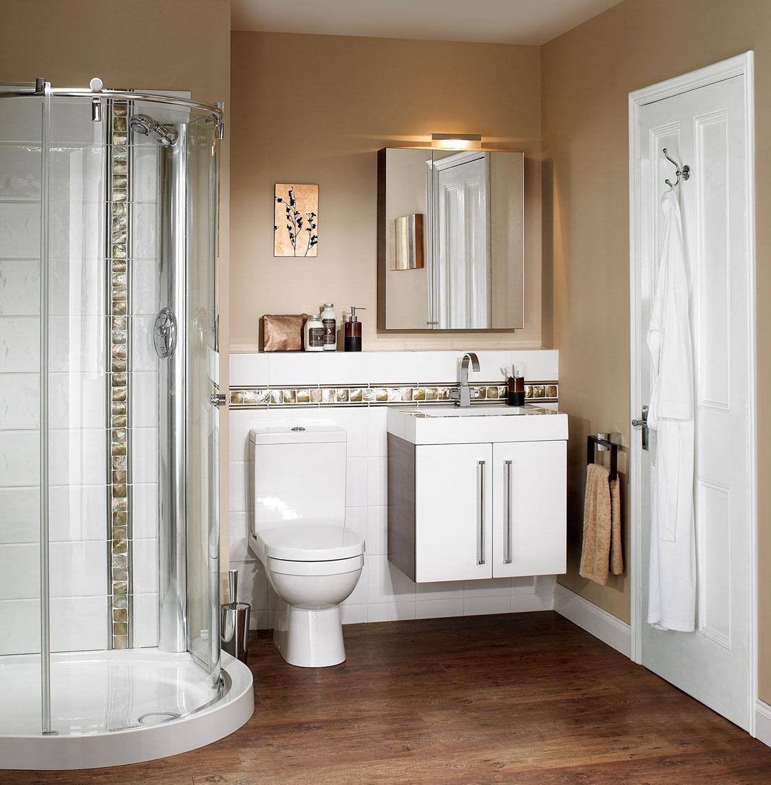 Маленькая ванная комната в стиле модерн