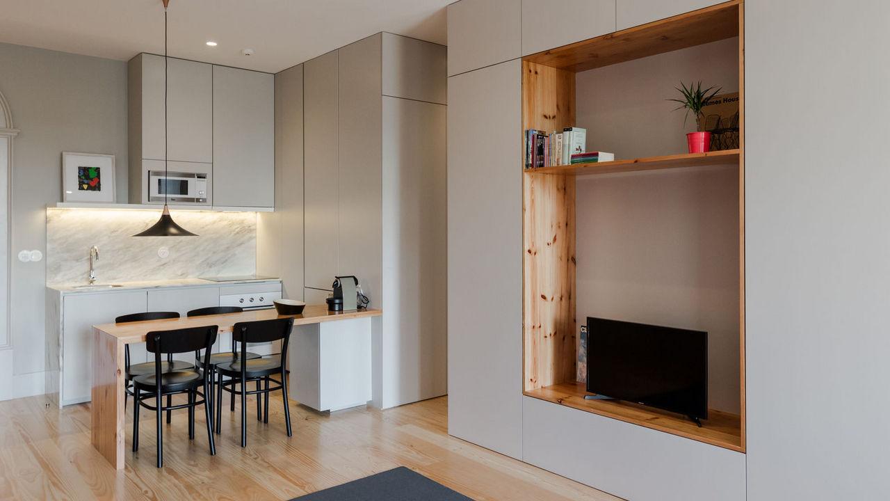 Дизайн однокомнатной квартиры с модульной мебелью