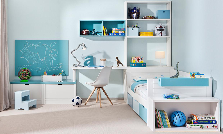 Детская комната для мальчика с модульной мебелью