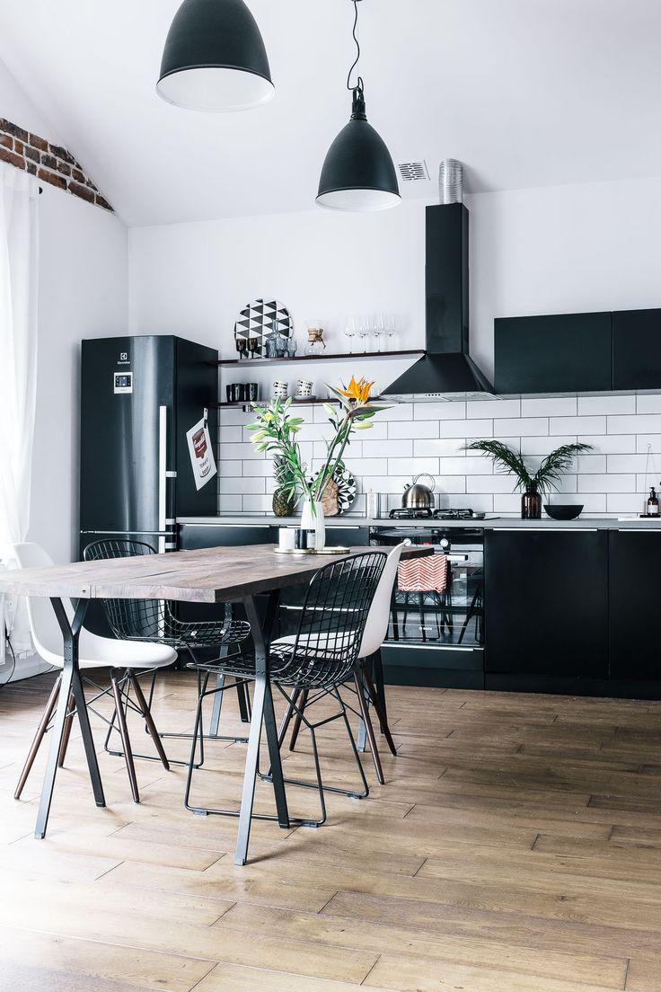 Кухня 9 кв м в монохромном дизайне