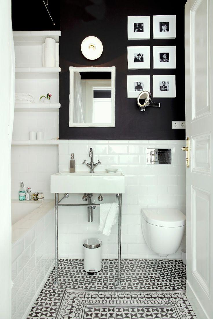Идеи дизайна маленькой ванной в монохромных тонах