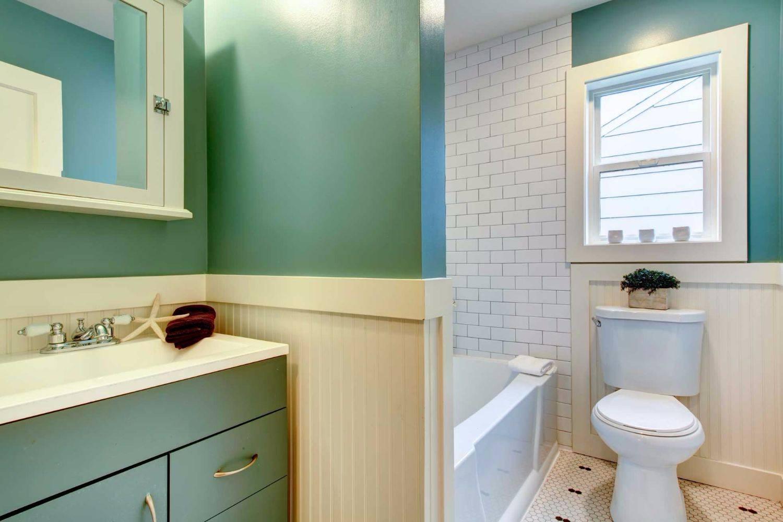 Идеи дизайна маленькой ванной в морском стиле