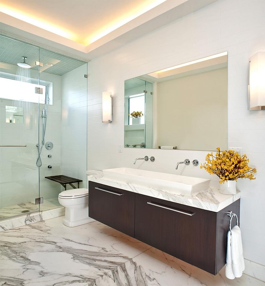 Интерьер ванной: как выдержать стиль в комнате любой площади (58 фото)