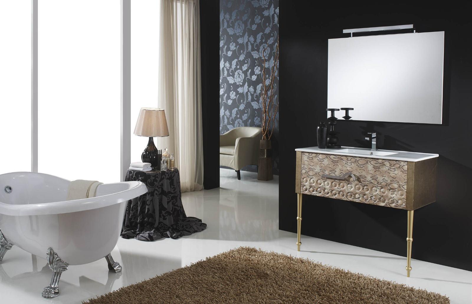 Интерьер ванной в стиле неоклассики