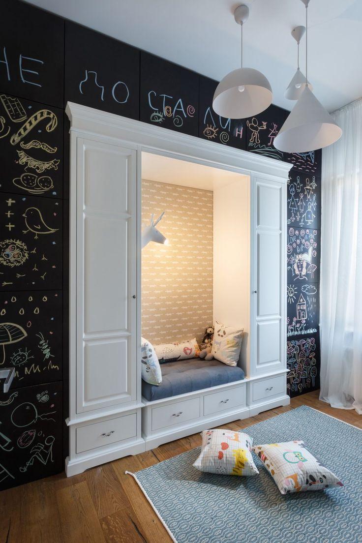 Детская в однокомнатной квартире с нишей