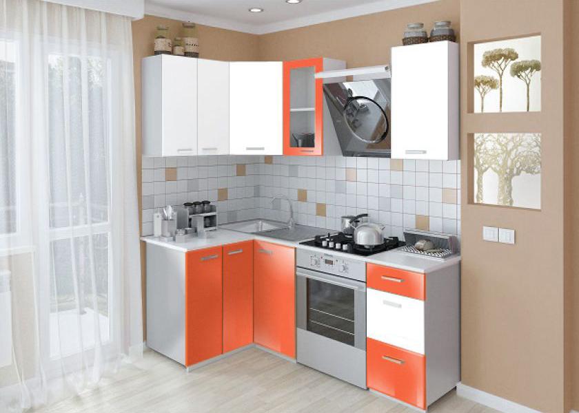 Замена оранжевых фасадов кухни