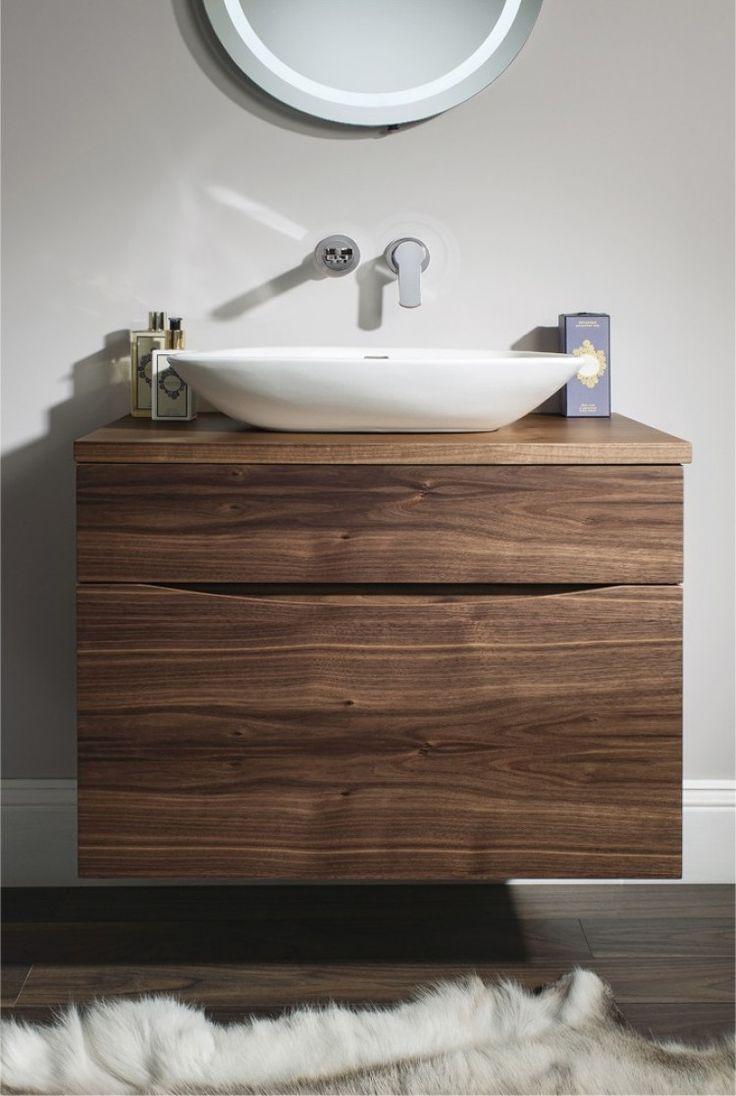 Мебель для ванной под орех