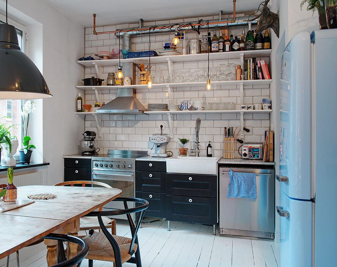 Дизайн маленькой кухни открытой
