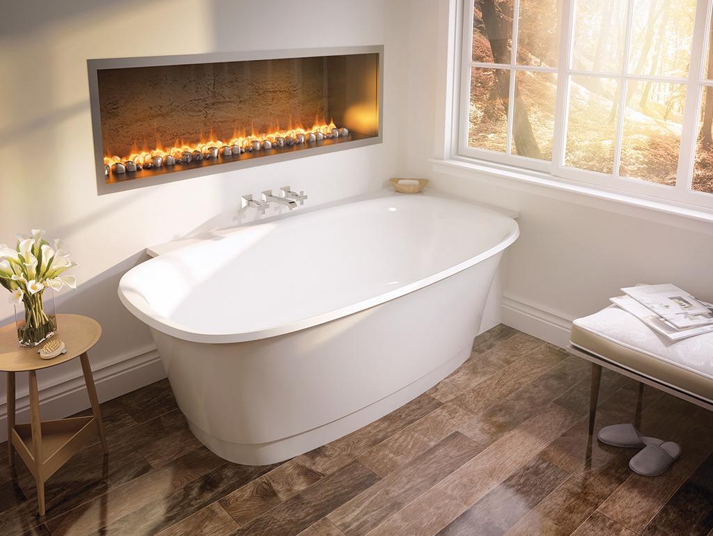 Угловая ванна овальная