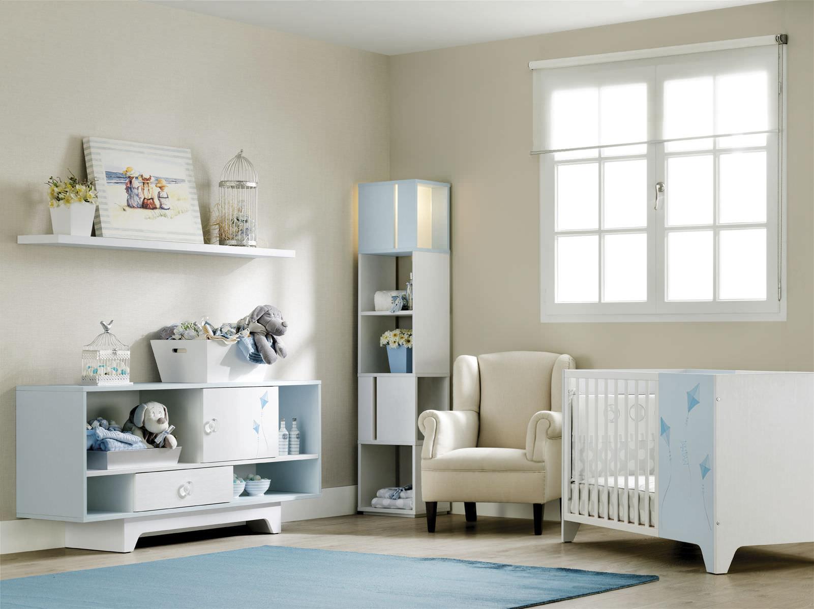 Детская комната для мальчика в пастельных тонах