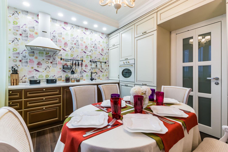 Кухня 9 кв м с патиной