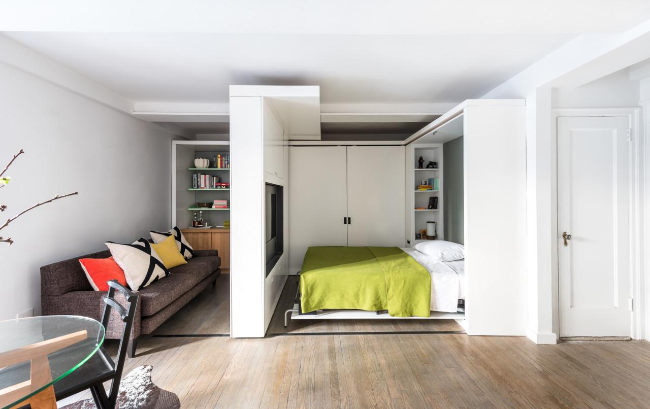 Спальня в однокомнатной квартире перепланировка