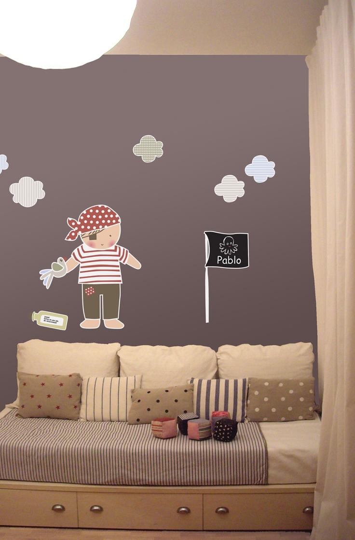 Детская комната для мальчика в пиратской стилистике