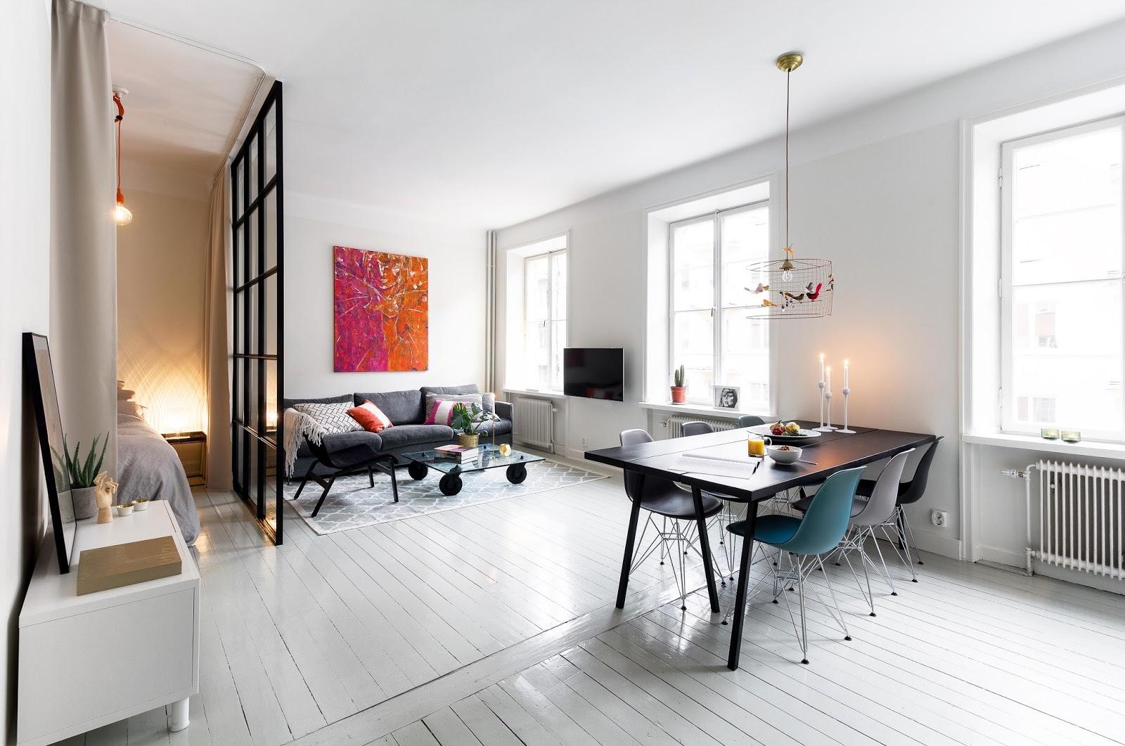 Спальня в однокомнатной квартире планировка
