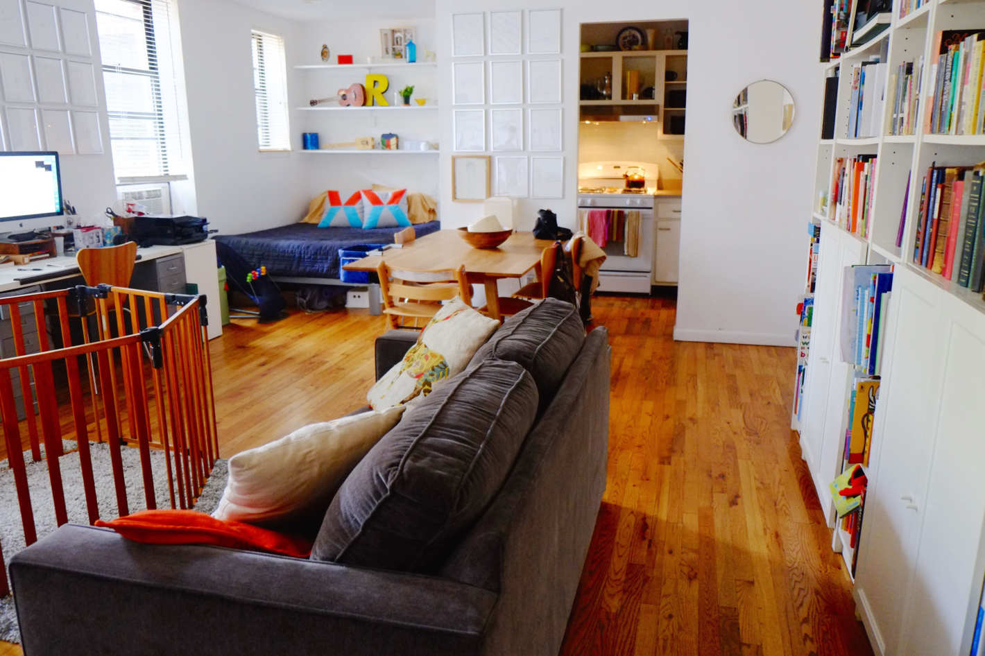Детская в однокомнатной квартире планировка