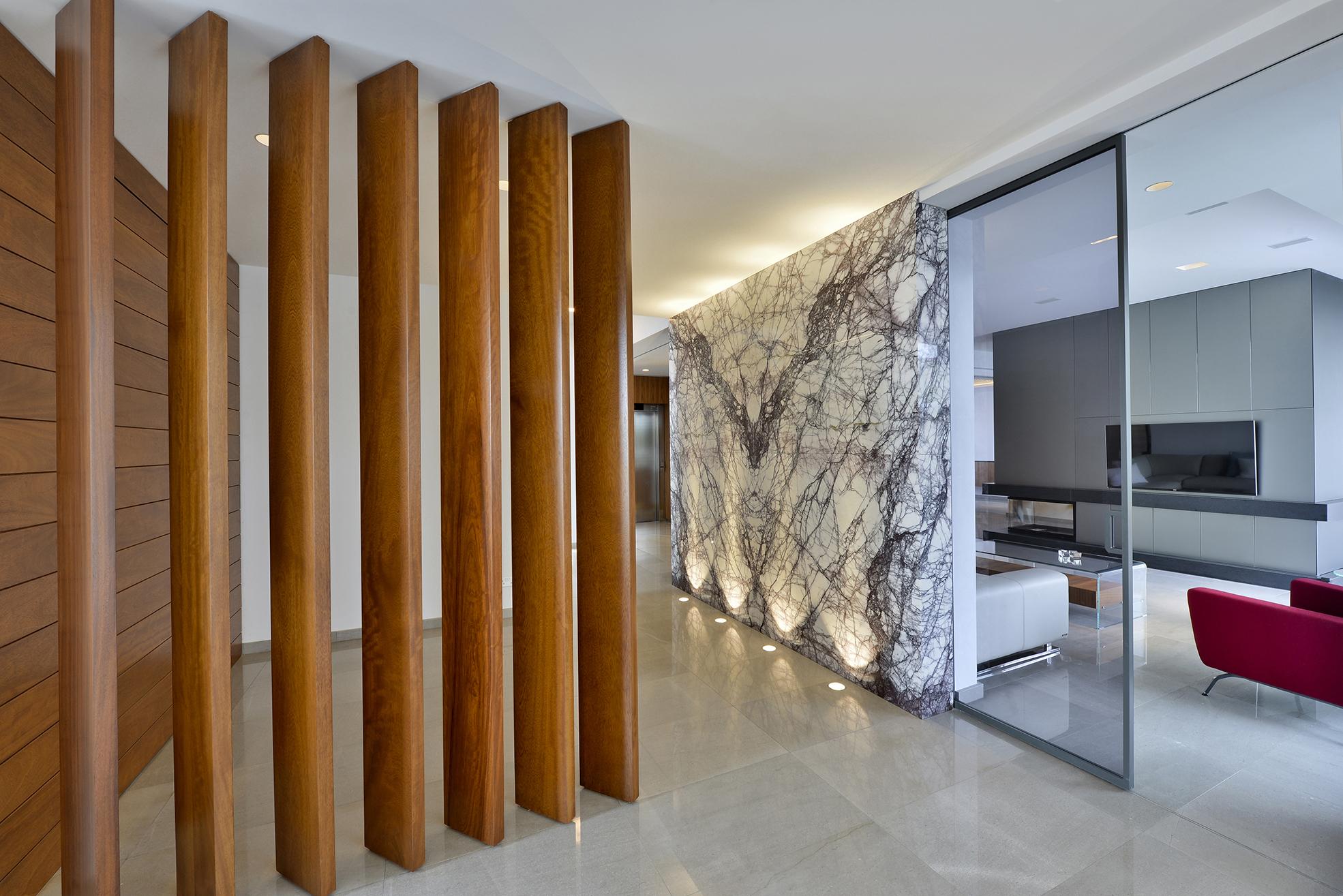 Дизайн однокомнатной квартиры с подсветкой