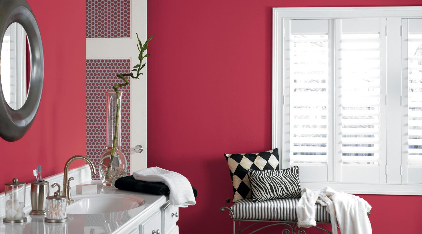 Покраска ванной в красный цвет