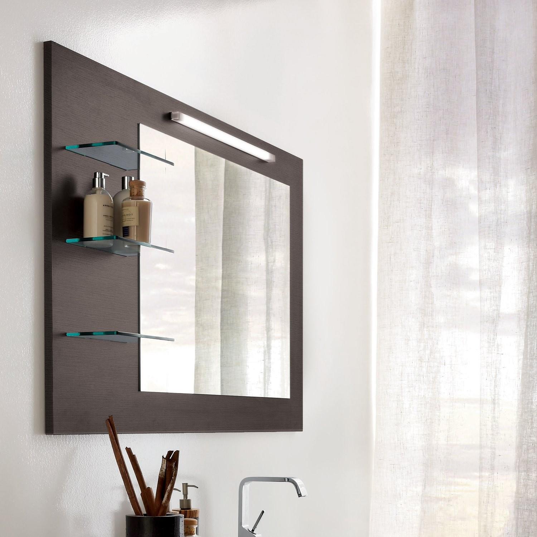 Зеркало в ванную комнату с полочками