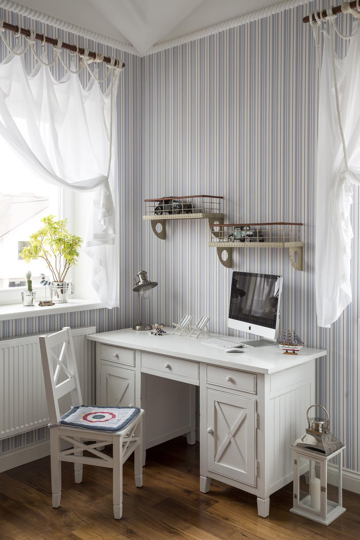 Детская комната в стиле прованс полосатая
