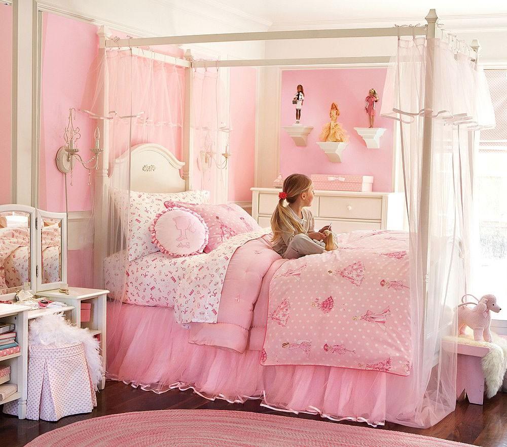 Детская комната в стиле прованс с принцессами
