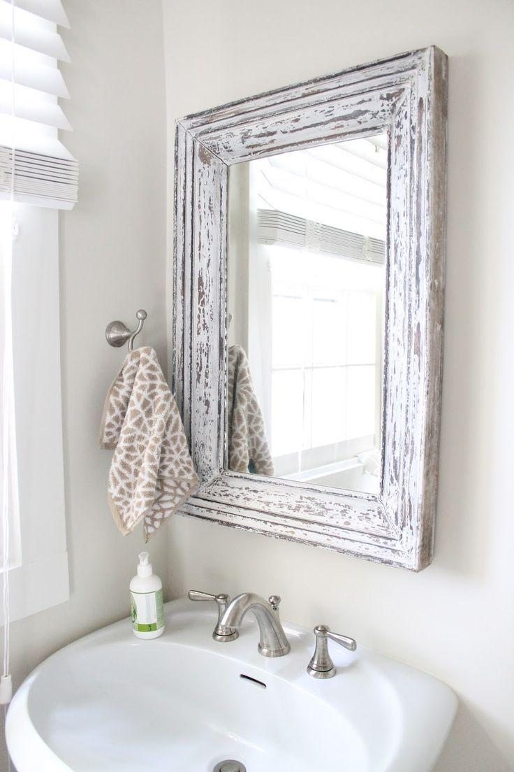 Зеркало в ванную комнату в стиле прованс