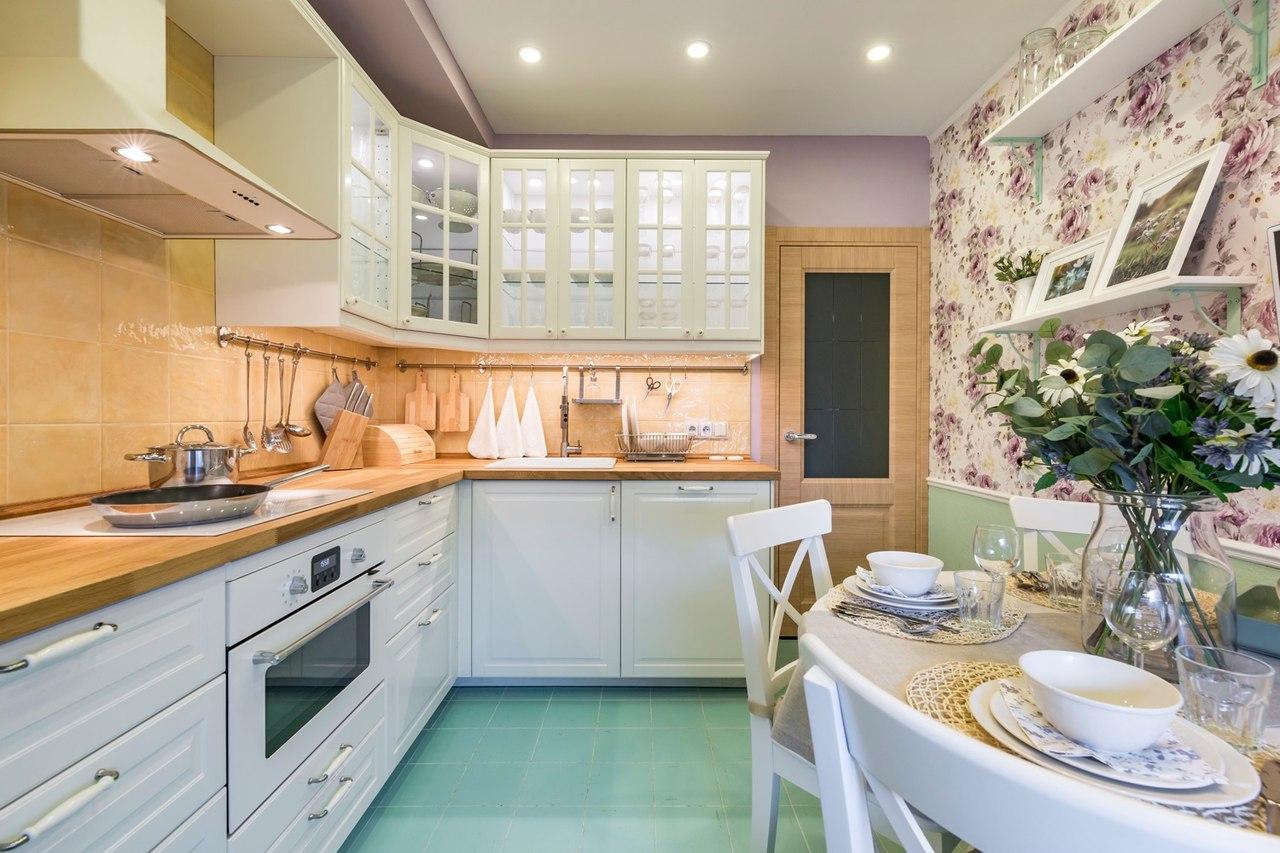 Кухня 9 кв м прованс