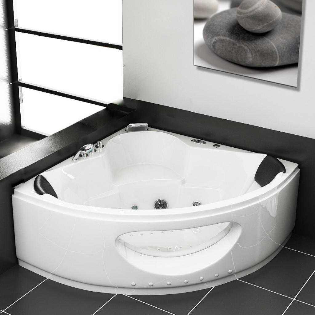 Угловая ванна прозрачная