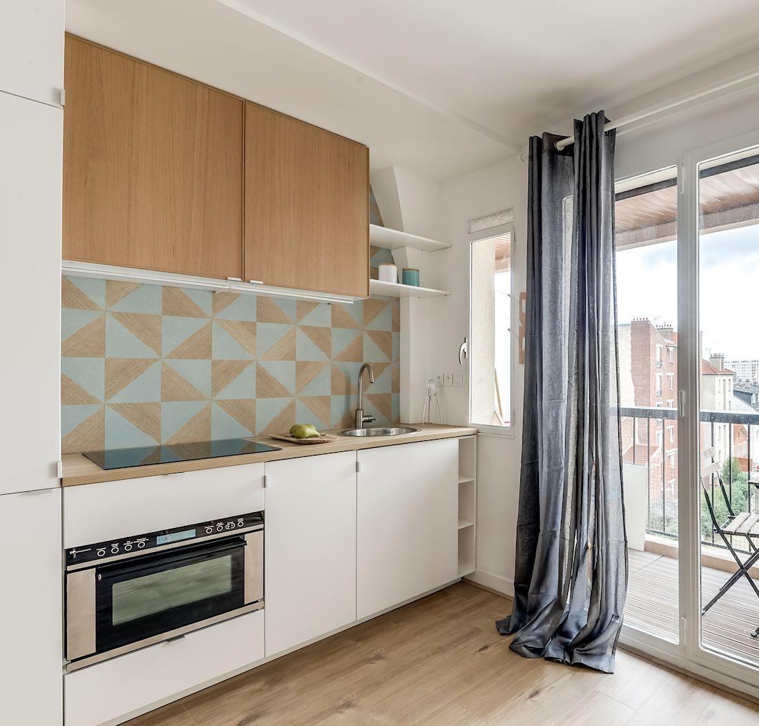 Дизайн маленькой кухни прямой