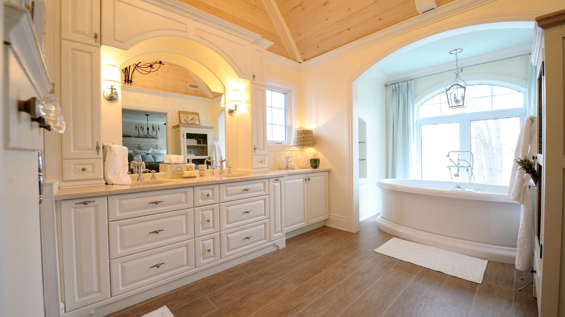 Интерьер ванной в стиле ретро