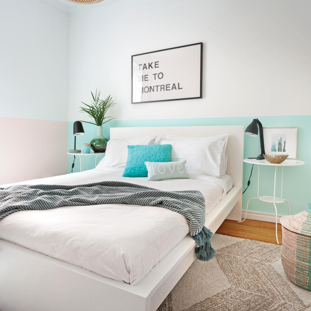Маленькая спальня в стиле ретро