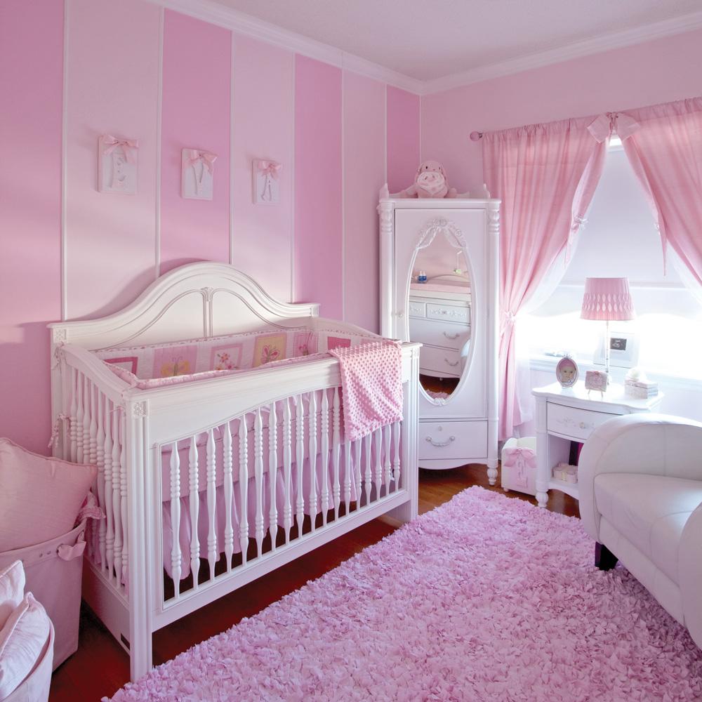 Детская комната в стиле прованс розовая