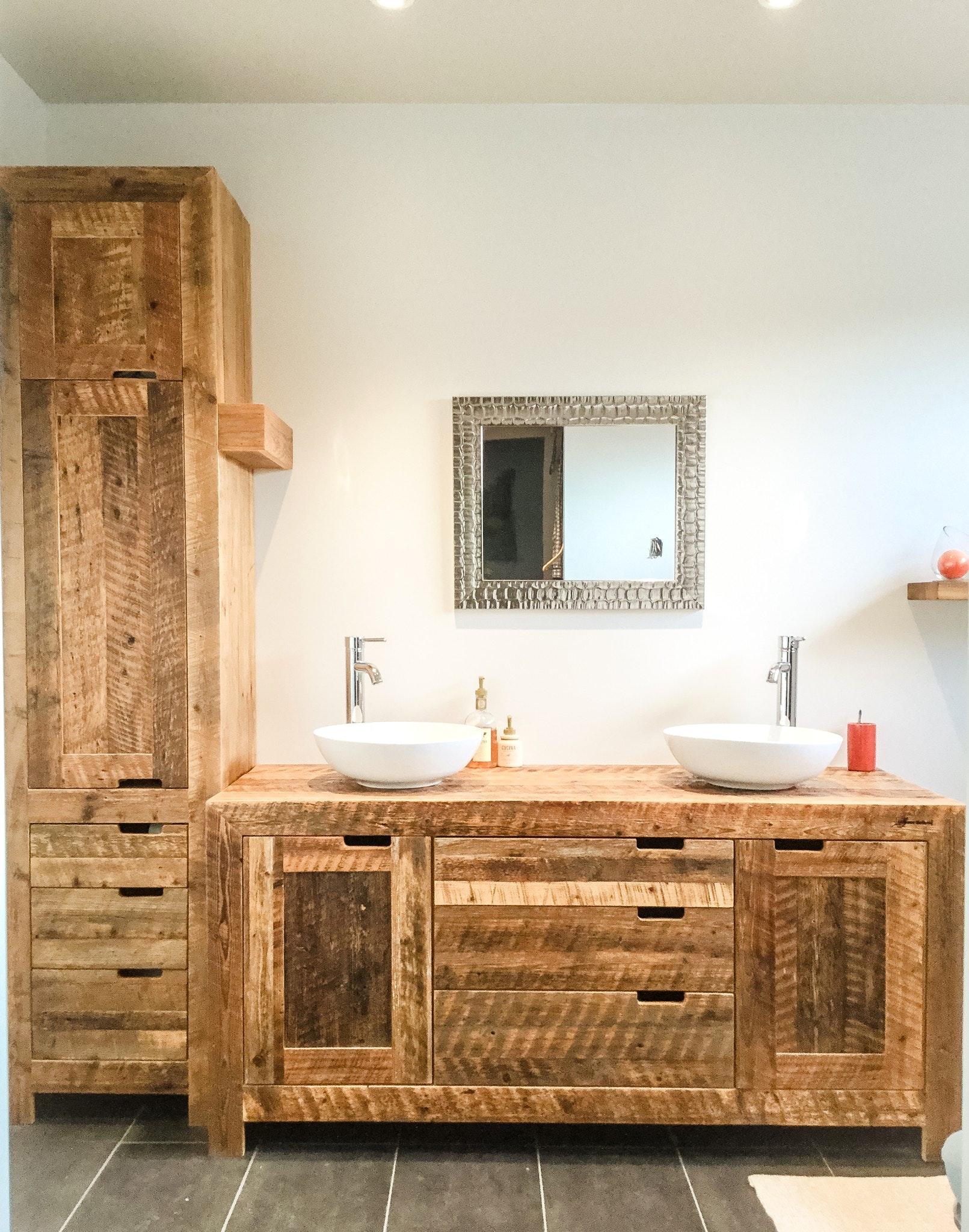 Мебель для ванной в рустикальном стиле