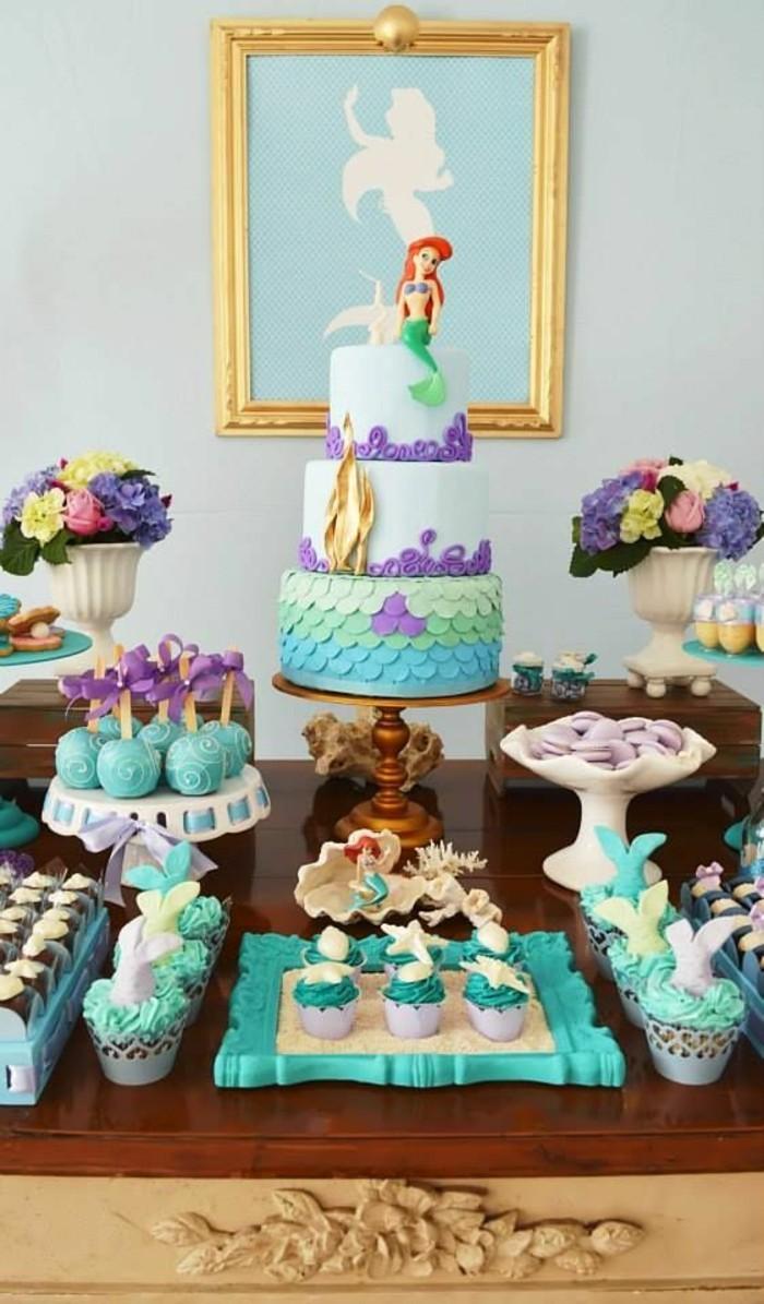Оформление детского дня рождения в теме русалочки
