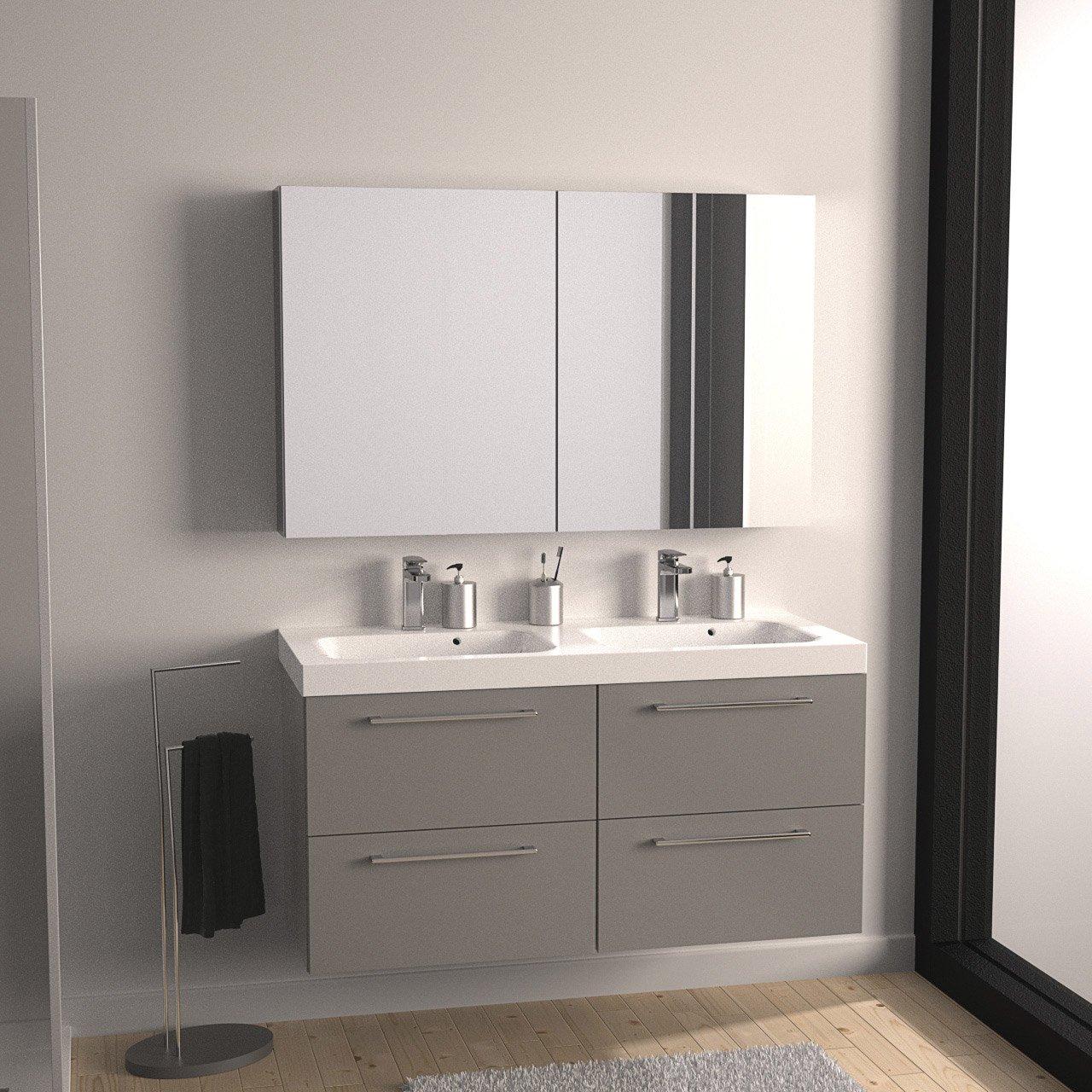 Мебель для ванной серая