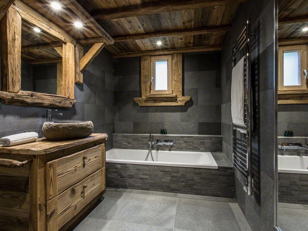 Интерьер ванной шале