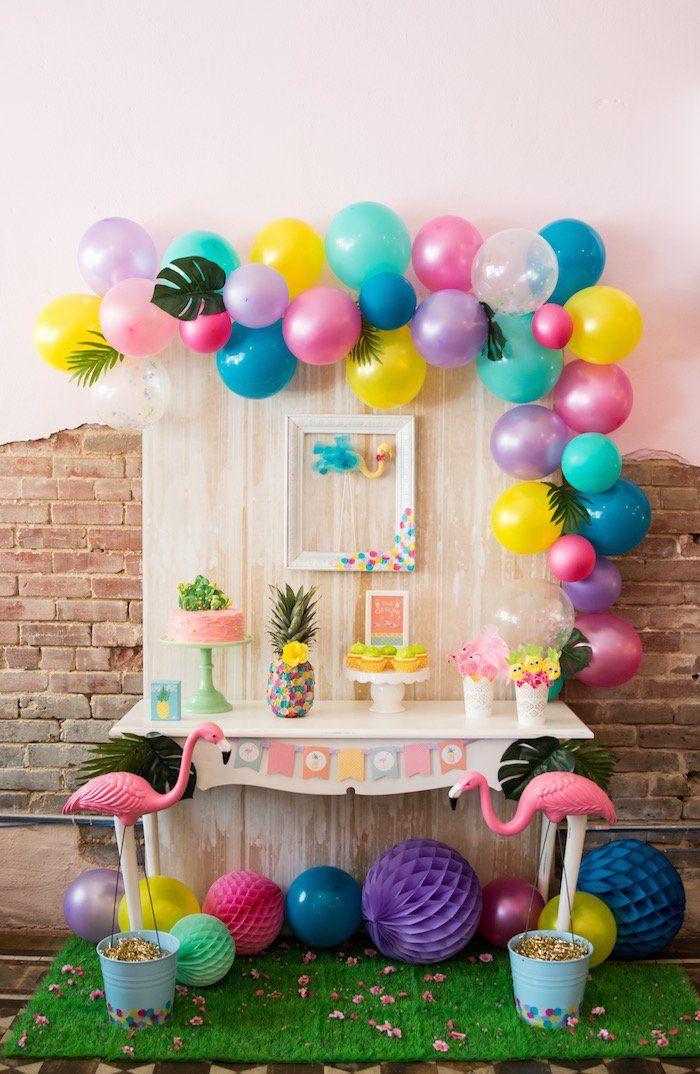 Оформление детского дня рождения шариками