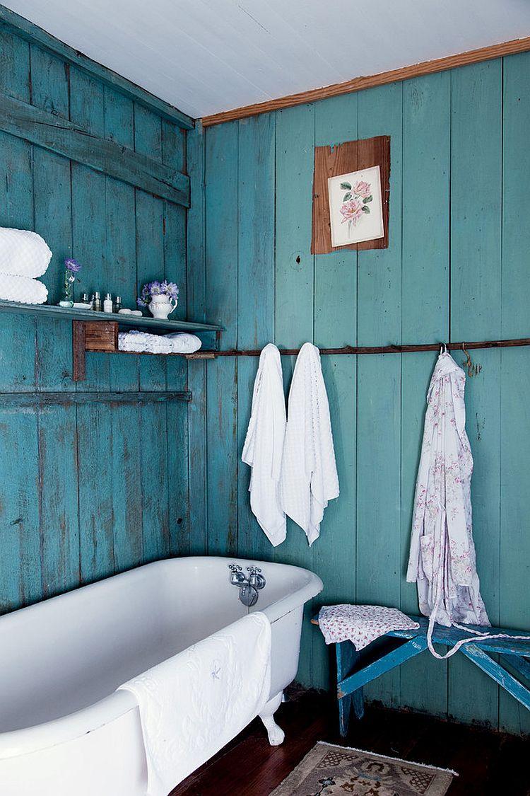 Интерьер ванной в стиле шебби шик