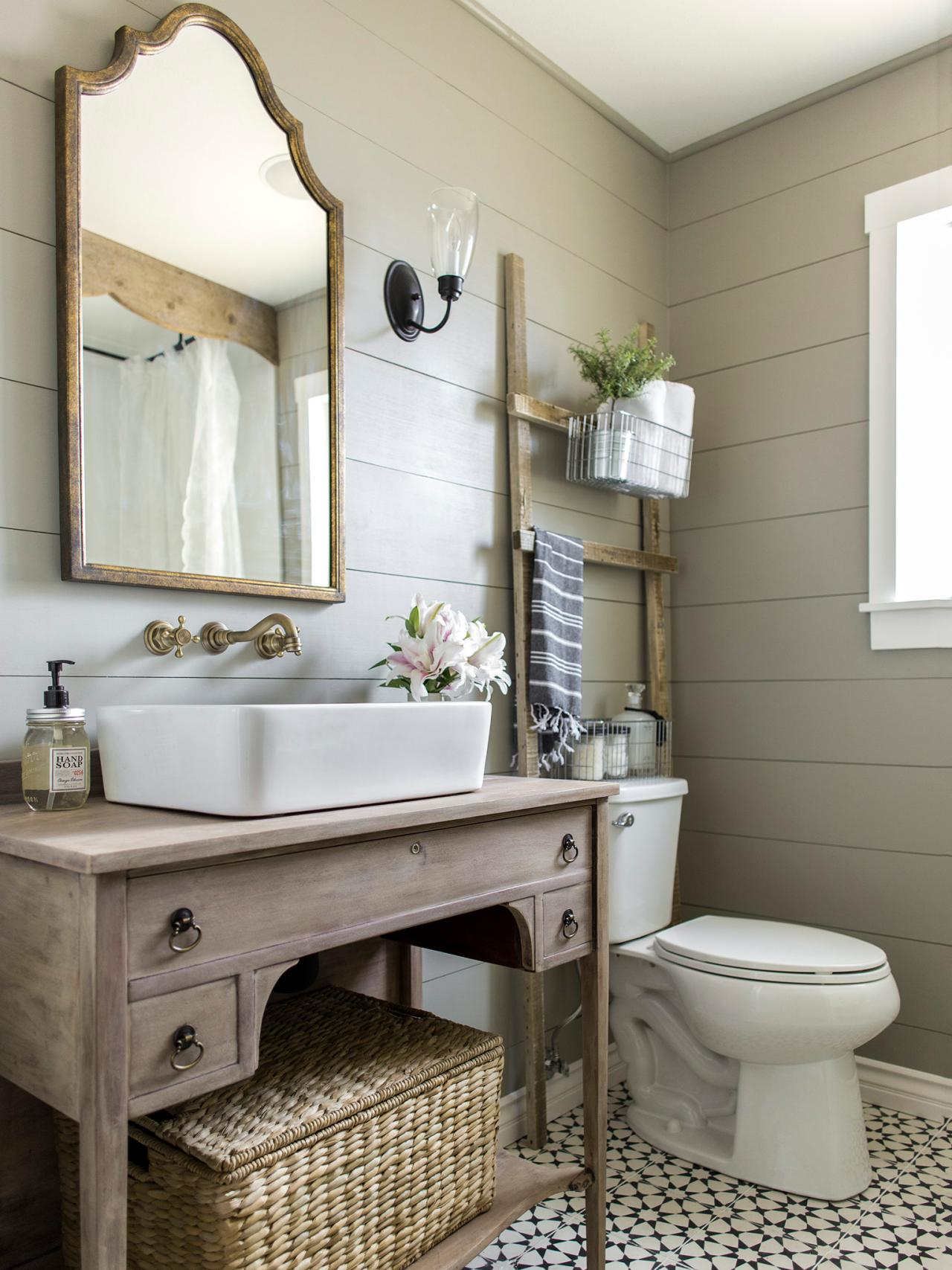 Мебель для ванной в стиле шебби шик