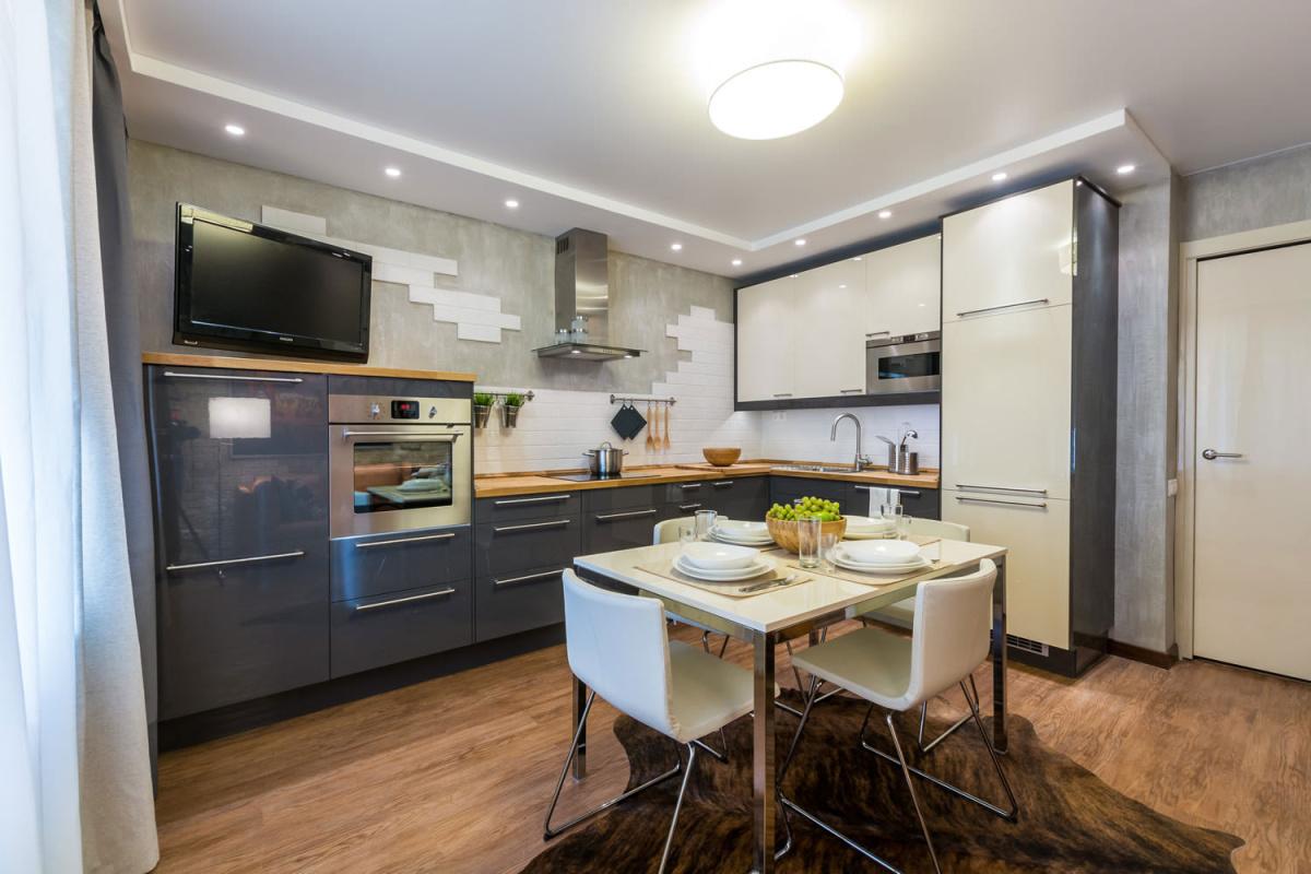 Кухня 9 кв м со шкурой