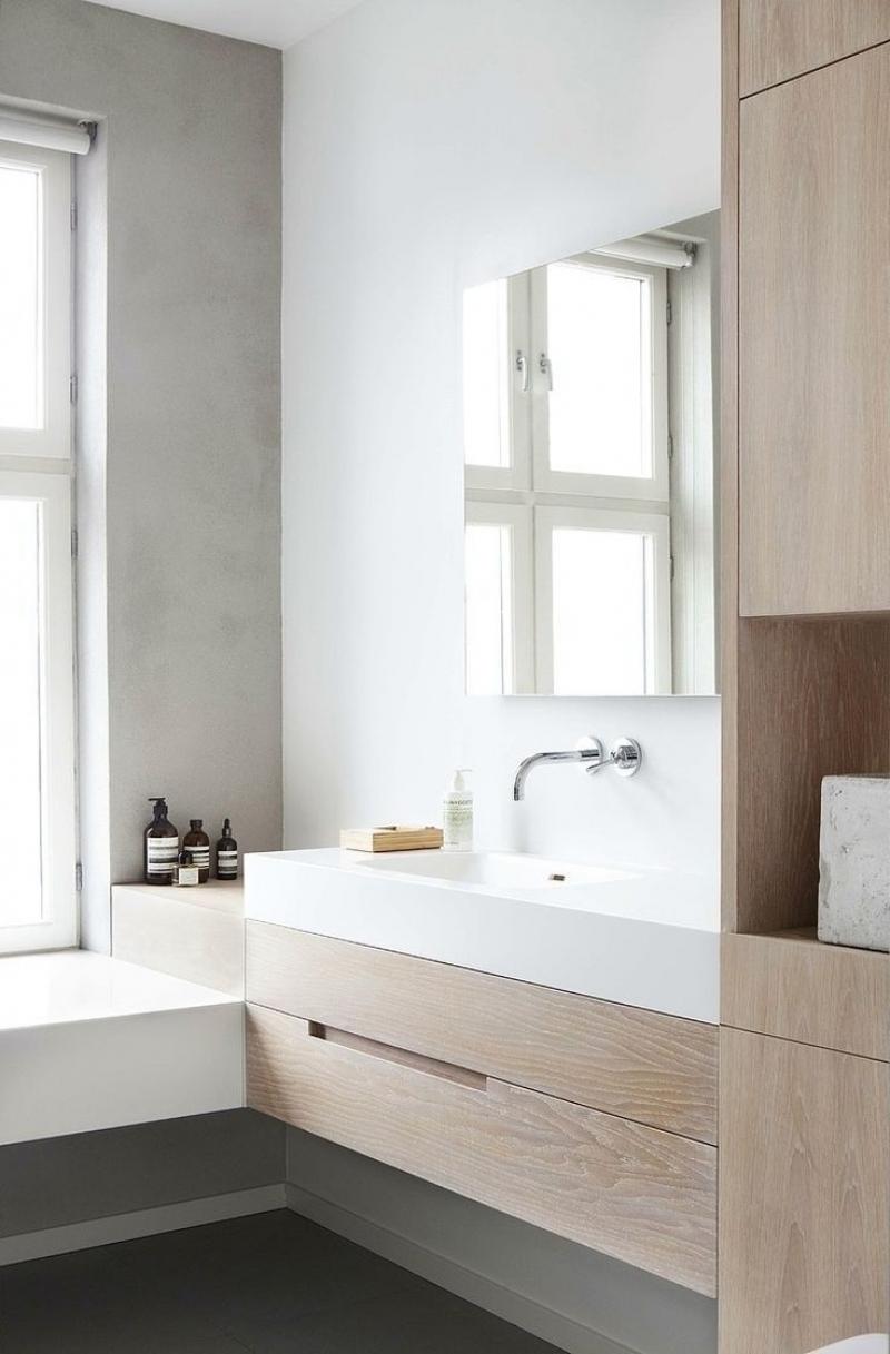 Мебель для ванной шпонированная