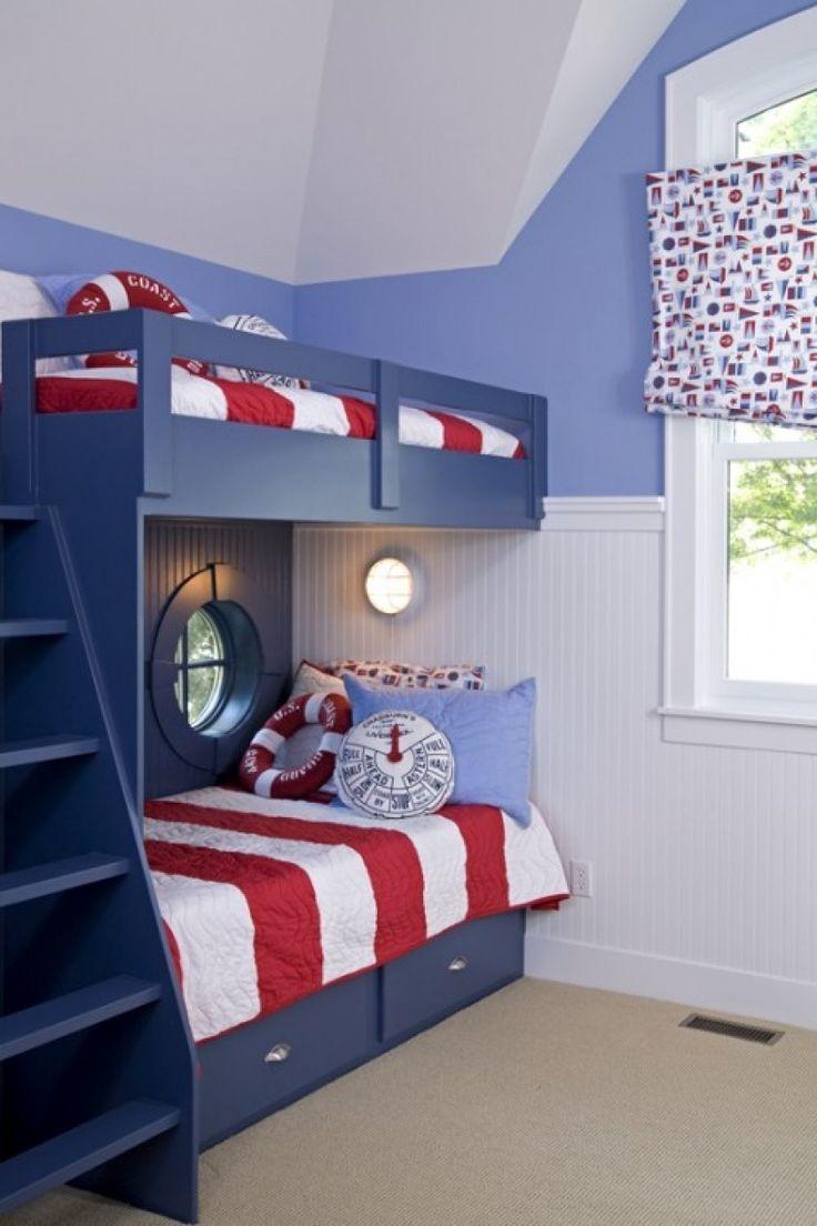 Детская комната для мальчика синяя