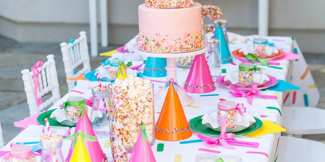 Оформление детского дня рождения сладостями