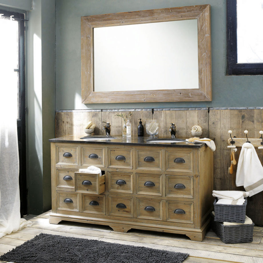 Мебель для ванной состаренная